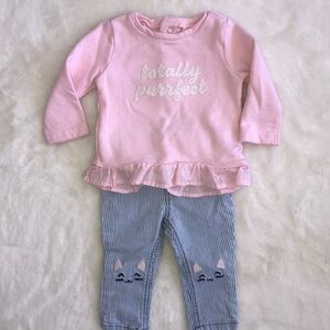 Carter's kitty outfit size 6 months